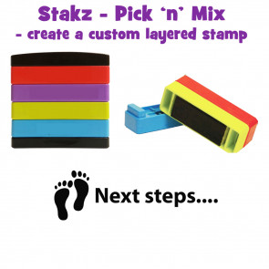 Teacher Stamps   Next steps Pick'n'Mix Stakz Layered Multistamp