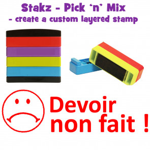 Teacher Stamps | Devoir non fait ! Pick'n'Mix Stakz Layered French Multistamp