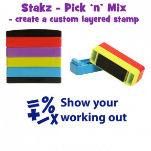 Teacher Stamps | Show your working out Pick'n'Mix Stakz Layer Multi Stamp.