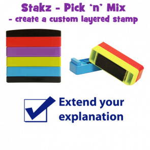 Teacher Stamps | Extend your explanation Pick'n'Mix Stakz Layer Multi Stamp