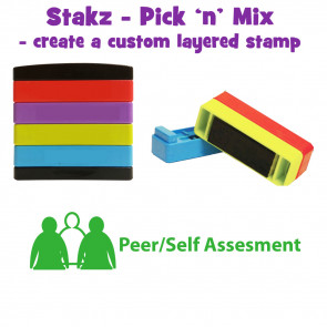 Teacher Stamps | Peer/self assessment Pick'n'Mix Stakz Layered Multistamp