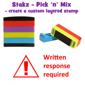 Teacher Stamps | Written response required Pick'n'Mix Stakz Layered Multistamp