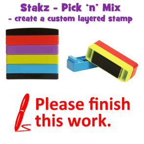 Teacher Stamps | Please finish this work Pick'n'Mix Stakz Layered Multistamp