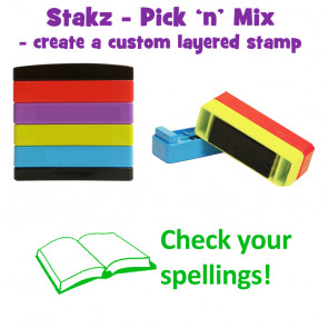 Teacher Stamps | Check your spellings! Pick'n'Mix Stakz Layered Multistamp