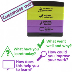 Teacher stamp | What have you learnt, How does this help, How to improve, What went well - Multistamp