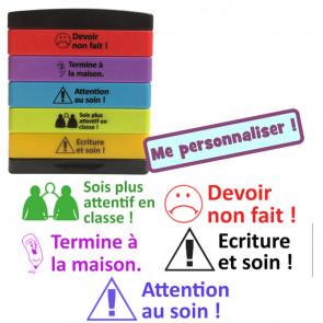 Tampons Ecole | Attention / Ecriture / Devoir /..attentif en classe / Termine à la maison