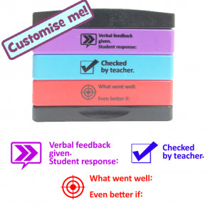 Teacher Multistamp | 3 Layer - Verbal feedback/Student response, Checked by teacher, WWW/EBI