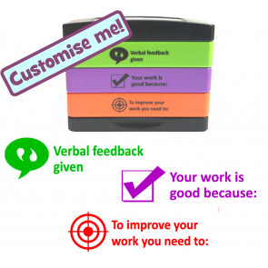 School Stamp | Verbal feedback given, Your work is good because, To improve ...Teacher Stamp