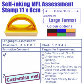 Teacher Stamp | MFL Formative Assessment & Checklist Stamp