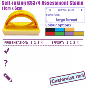 Teacher stamp | Grade presentation & effort, provide feedback and request pupil response