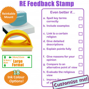 Teacher Stamp | Religious Education, Even better if.. KS3 -6x11cm Stamper