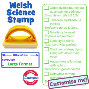 School Stamps | Welsh / English Science Marking Stamp