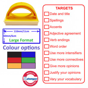 Teacher Stamp | Large Format MFL Spanish Targets Checklist Marking Stamp