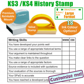 Teacher Stamp | KS3 History Writing Skills KS3/4 Large Format Stamp