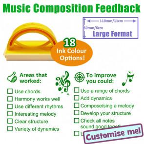 School Stamp   KS3 / 4 Music Composition Feedback Stamp