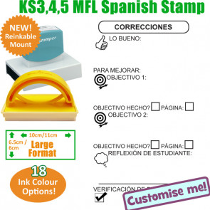MFL Stamps | Spanish Language Large Stamp