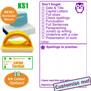 p | SPaG / Presentation / Spellings Large School Stamp