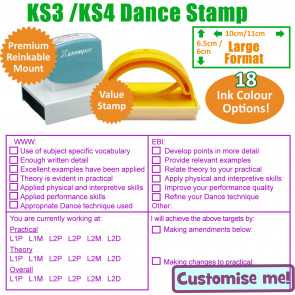 Teacher Stamps | Dance feedback, assessment and marking checklist school stamp