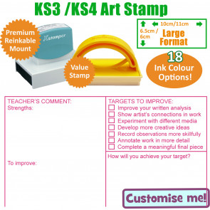 Teacher Stamps | Art Marking Stamp KS3 / 4 - Large Teacher Stamp