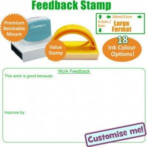 Teacher Stamps | Work Feedback / Marking Stamp KS2/3-Large Stamp