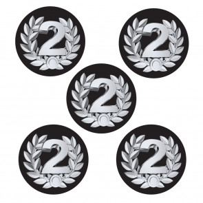 Sports Stickers | Second Place Shiny Foil, Large Award / Sports Day Stickers