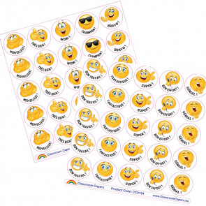 School Stickers | Class Pack / Value Pack Emoji Reward Stickers - French