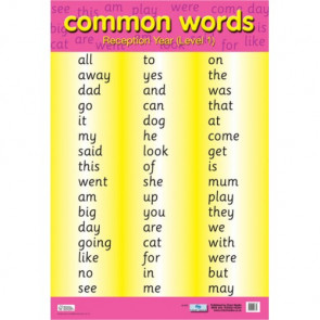 School Educational Posters | Common Words Reception and Key Stage 1 for Classroom Displays