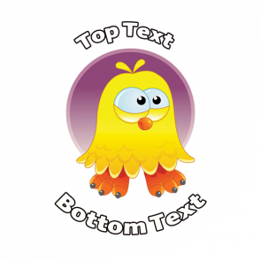 Personalised Stickers for Teachers | Cool Dude Chick Easter Sticker - Customise with your message or name at the top