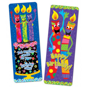 Bookmarks for Children | Birthday Candles Design for Class Gifts or Party Bag Presents
