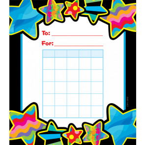 Reward Chart Pad | Gel Stars Design Small Reward Charts for Kids