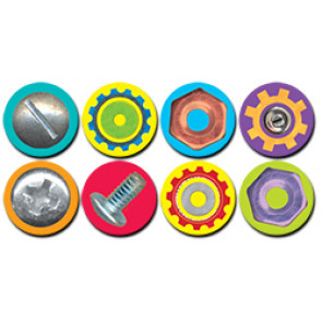 Teacher Reward Stickers | Nuts and Bolts Spot Mini Stickers - ideal for our Robots reward charts