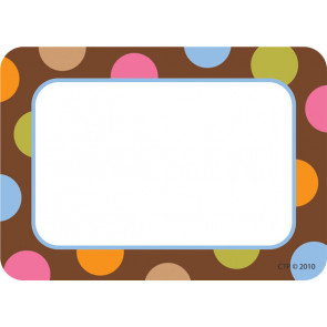 Name Label Stickers | Dots on Chocolate Design Badges