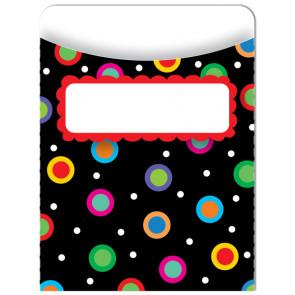 Classroom Decor | 35 x Dots on Black Design Library Pockets