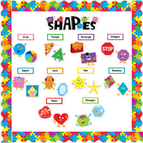 Classroom Display Resources | Shapes Bulletin Board Set and Trimmer