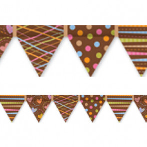 Display trimmers / borders | Dots on Chocolate Pennant