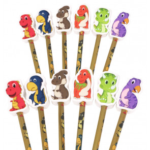 Class Gift | Dinosaur Pencils with Large Eraser Ends
