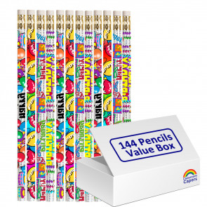 Bulk Kids Pencils | 144 x Birthday Glitz Pencils