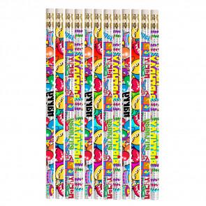Pencils for Kids | 12 x Birthday Glitz Pencils