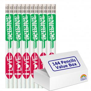 Bulk Kids Pencils | 144 x I Love Science Pencils