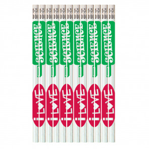 Pencils for Kids | 12 x I Love Science HB Pencils.