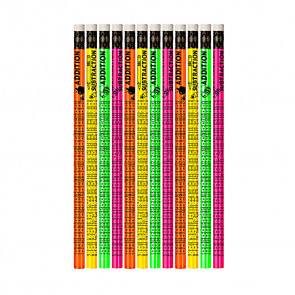 Pencils for Kids | 12 x Addition & Subtraction Maths Pencils