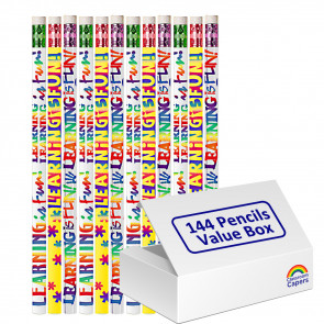 Bulk Kids Pencils | 144 x Learning is Fun Pencils