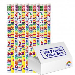 Bulk Kids Pencils | 144 x Learning is Fun Pencils