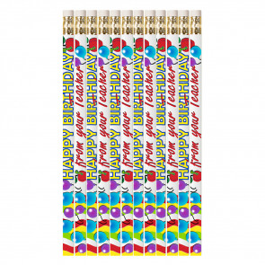 Pencils for Kids | 12 x Happy Birthday From Your Teacher Pencils