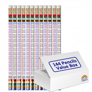 Bulk Kids Pencils   144 x Multiplication Tables Pencils