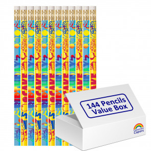 Bulk Kids Pencils | 144 x Scrummy Birthday Cake (Scented) Pencils