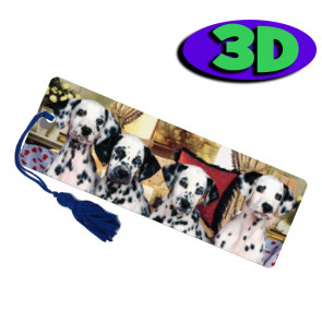 3D Bookmarks | Dalmation Dogs 3D Bookmark For Party Bags & Class Gifts.