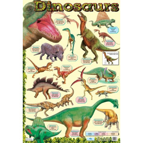 Children's Educational Posters | Dinosaur History Chart Poster