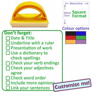 Teacher Stamp | Languages Marking Checklist Stamper - Ideal KS2/3
