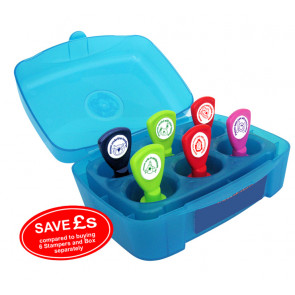 Teacher Stamps   6 Self-inking Stamps Box Set